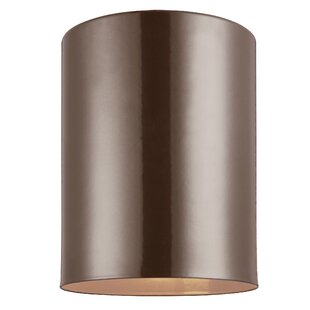 Savings Leaman 1-Light Outdoor Flush Mount By Orren Ellis