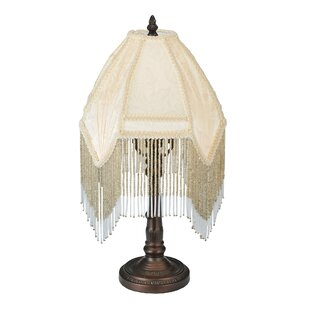 Reviews Arabesque Fabric with Fringe 18 Table Lamp By Meyda Tiffany