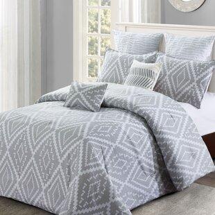 Union Rustic Tieman Ikat Geo Cotton 7 Piece Comforter Set