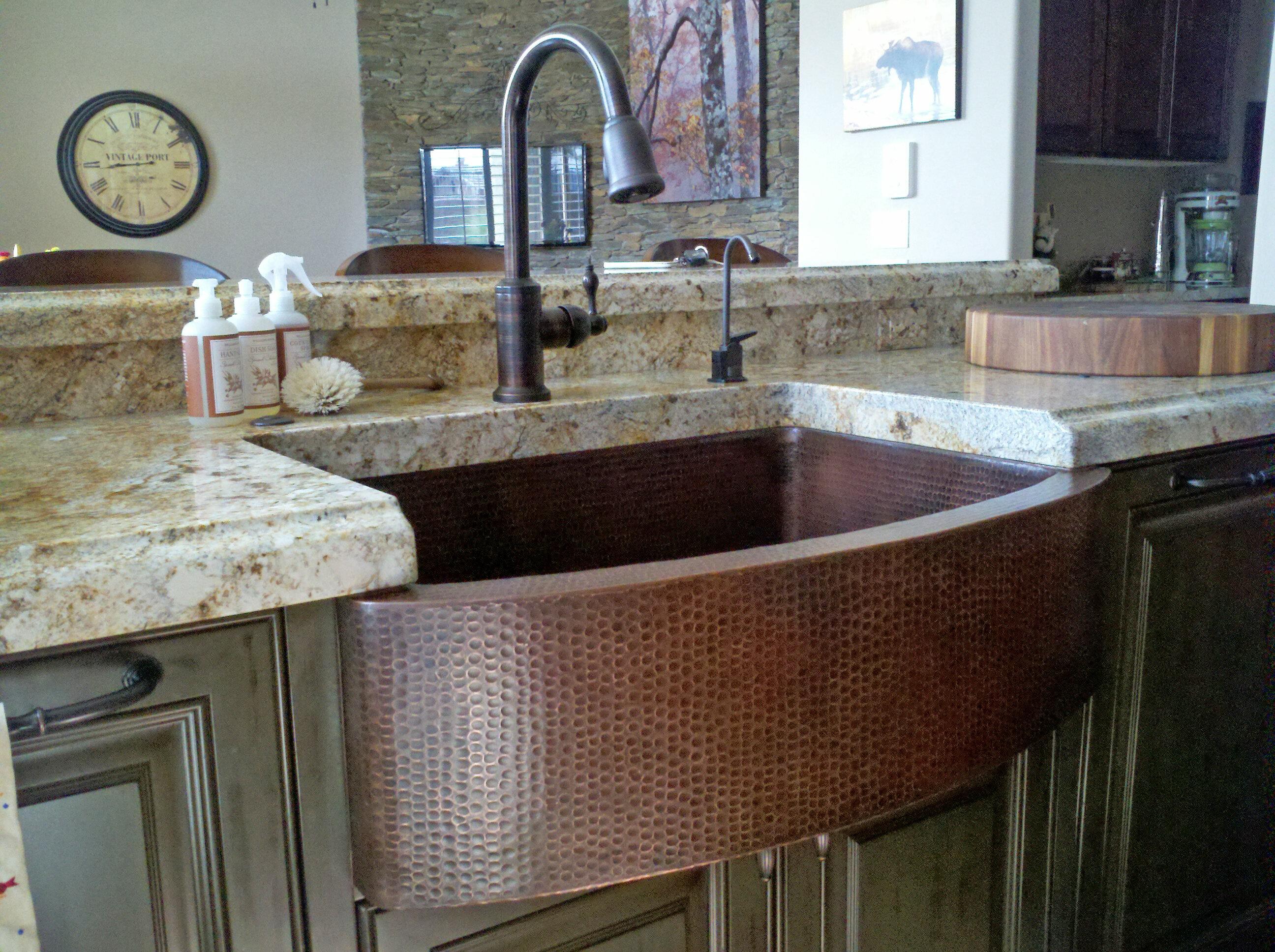Hammered A Kitchen Sink