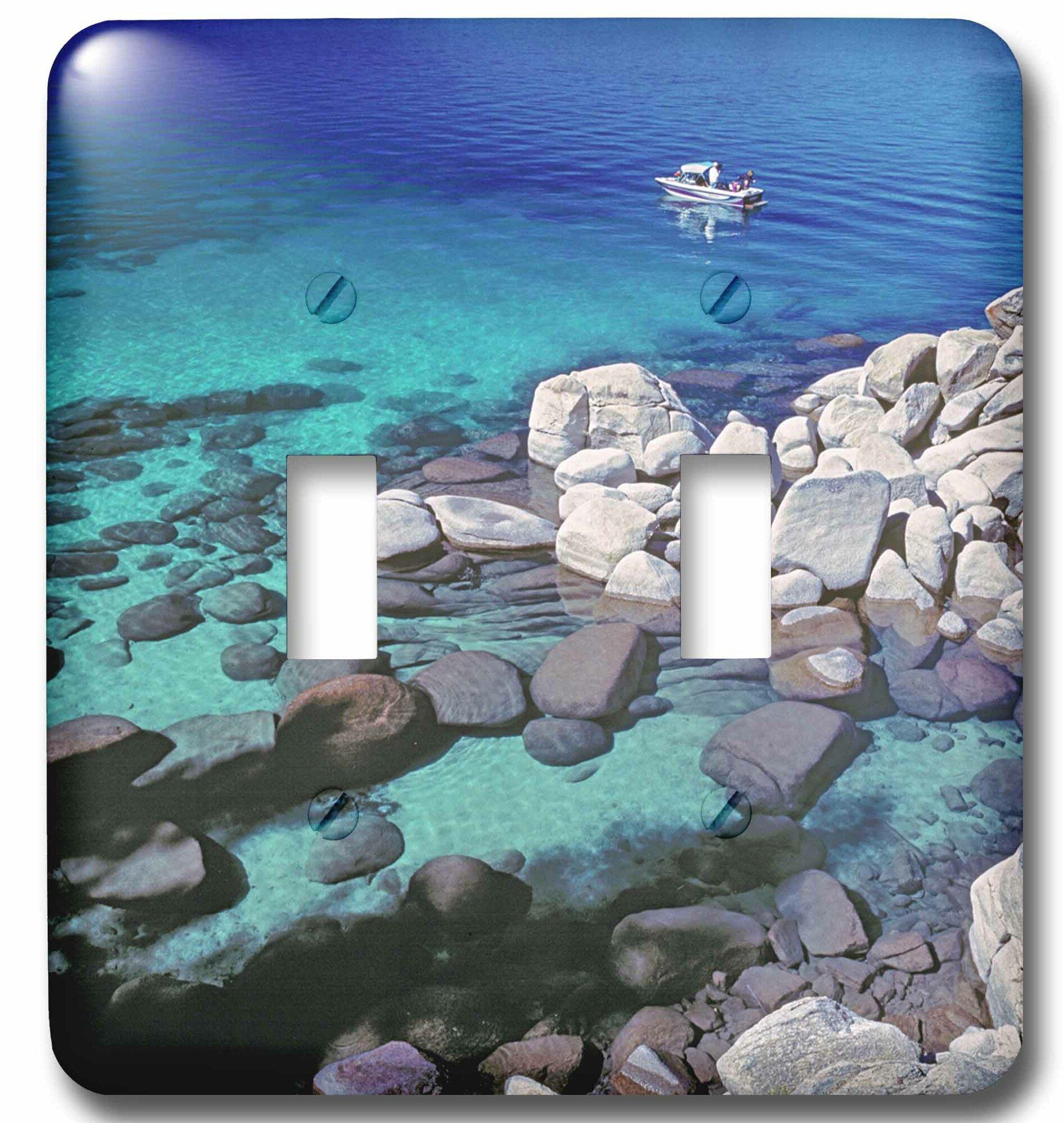 3drose Nevada Lake Tahoe 2 Gang Toggle Light Switch Wall Plate Wayfair