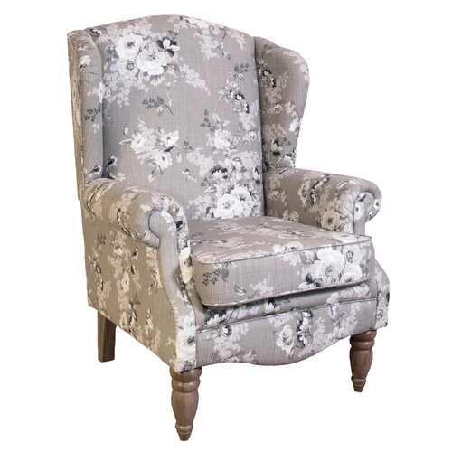 Apatow Wingback Chair Three Posts Upholstery: Linea Sea