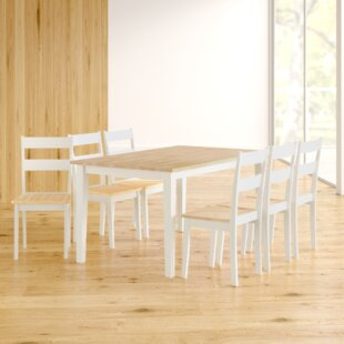 Saxon Dining Set With 6 Chairs By Zipcode Design