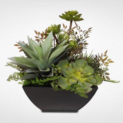 17 Stories Artificial Desktop Succulent in Planter