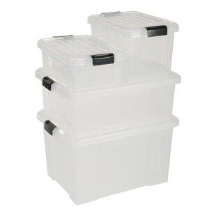21 L Plastic Storage Boxes (Set Of 3) By IRIS