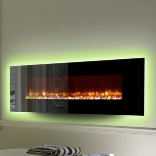 Allura LED Wall Mounted Electric Fireplace by Orren Ellis