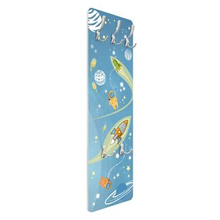 No.MW16 Colourful Drifting In Space Wall Mounted Coat Rack By Symple Stuff