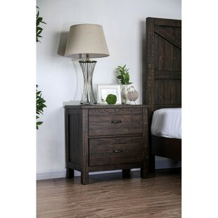 Colville Solid Wood 2 Drawer Nightstand