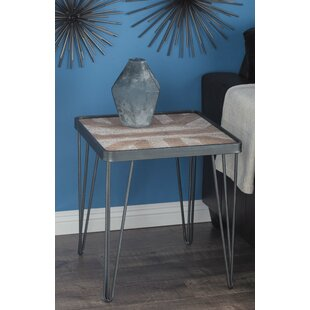 Compare prices Opperman Geometric End Table ByUnion Rustic