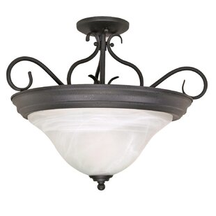 Claycomb 3-Light Semi Flush Mount by Fleur De Lis Living