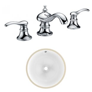 Reviews CSA Ceramic Circular Undermount Bathroom Sink with Faucet and Overflow ByAmerican Imaginations