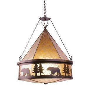 Steel Partners Bear 3-Light Shaded Chandelier