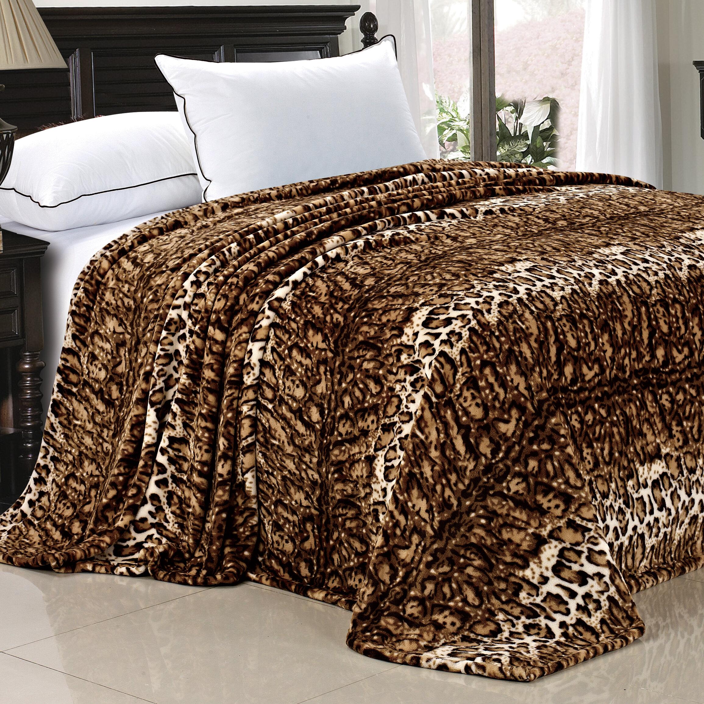 BOON Throw & Blanket Safari Flannel Fleece Blanket & Reviews | Wayfair