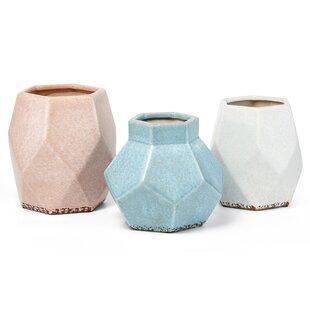 Forster Decorative Glazed 3 Piece Table Vase Set