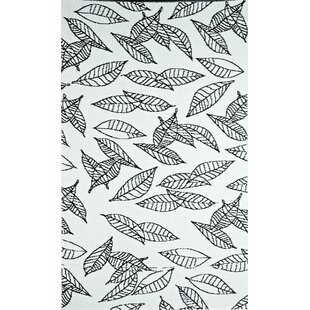 Great Price Arctic Reversible Design Black/White Outdoor Area Rug By b.b.begonia