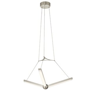 Rubino 3-Light LED Chandelier by Orren Ellis