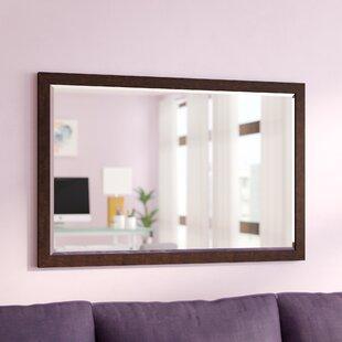 Latitude Run Larabee Wood Frame Beveled Edged Wall Mirror