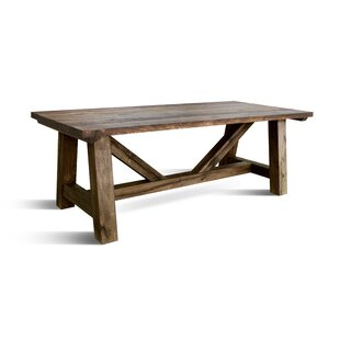 Veronica Solid Wood Dining Table Loon Peak