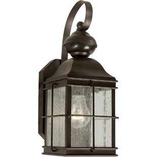 Reviews Cresskill 1-Light Outdoor Wall Lantern By Breakwater Bay