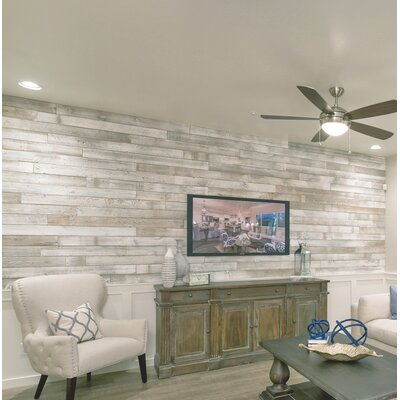 5 Solid Reclaimed Wood Wall Paneling In Sundance Whitewash