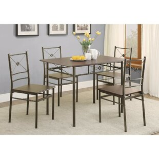 Mazzola 5 Piece Dining Set by Williston Forge Bargain