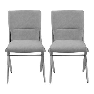 Stoops Upholstered Dining Chair (Set of 2) Orren Ellis