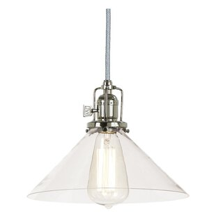 Gracie Oaks Edgar 1-Light Cone Pendant