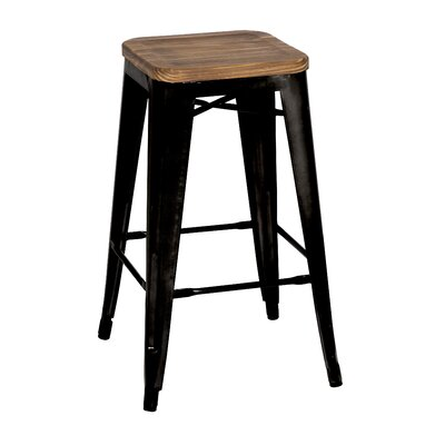 Outstanding Trent Austin Design Ellery 30 Bar Stool Upholstery Black Squirreltailoven Fun Painted Chair Ideas Images Squirreltailovenorg