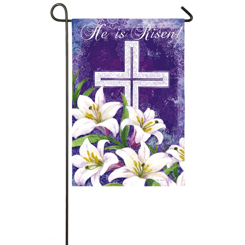 Evergreen Enterprises Inc Easter Cross And Lilies 2 Sided Polyester 18 X 13 In Garden Flag Reviews Wayfair Ca