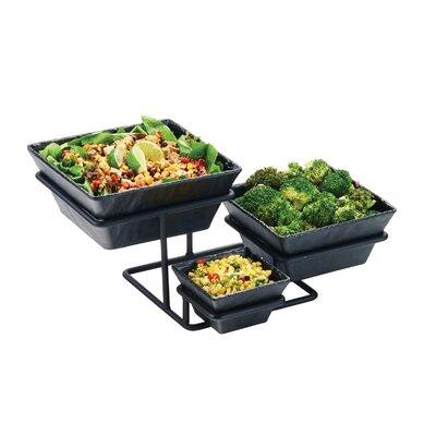 3 Step Square SaladFruit Bowl Display Cal Mil
