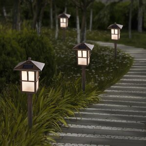 Pagoda Solar 1-Light Pathway Light (Set of 2) & Landscape Lighting Youu0027ll Love | Wayfair azcodes.com