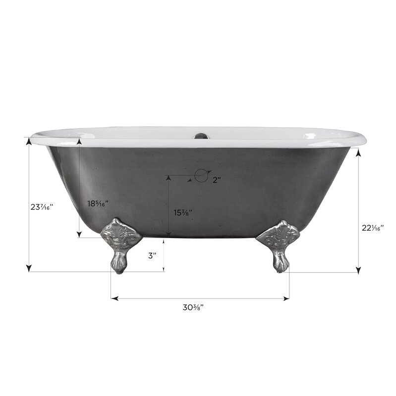This Rosa Clawfoot Soaking Bathtub Features An Elegant Vintage Design That  Complements Any Bathroom Style. In Addition To A Polished Cast Iron  Construction, ...