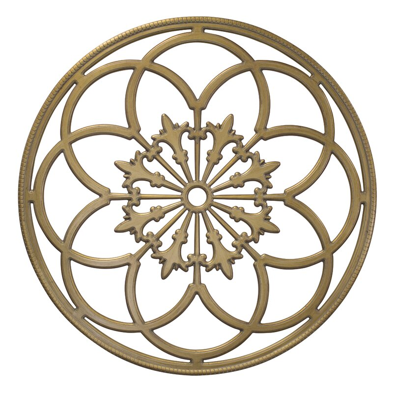 Round Wood Wall Decor kate and laurel kate and laurel ondelette round medallion wood