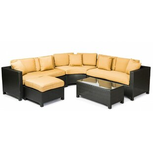 George 5 Piece Sunbrella Sectional Set with Cushions by Bay Isle Home