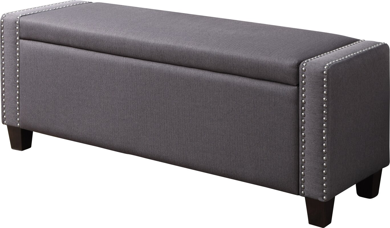 Quinones Bluebell Upholstered Storage Bench