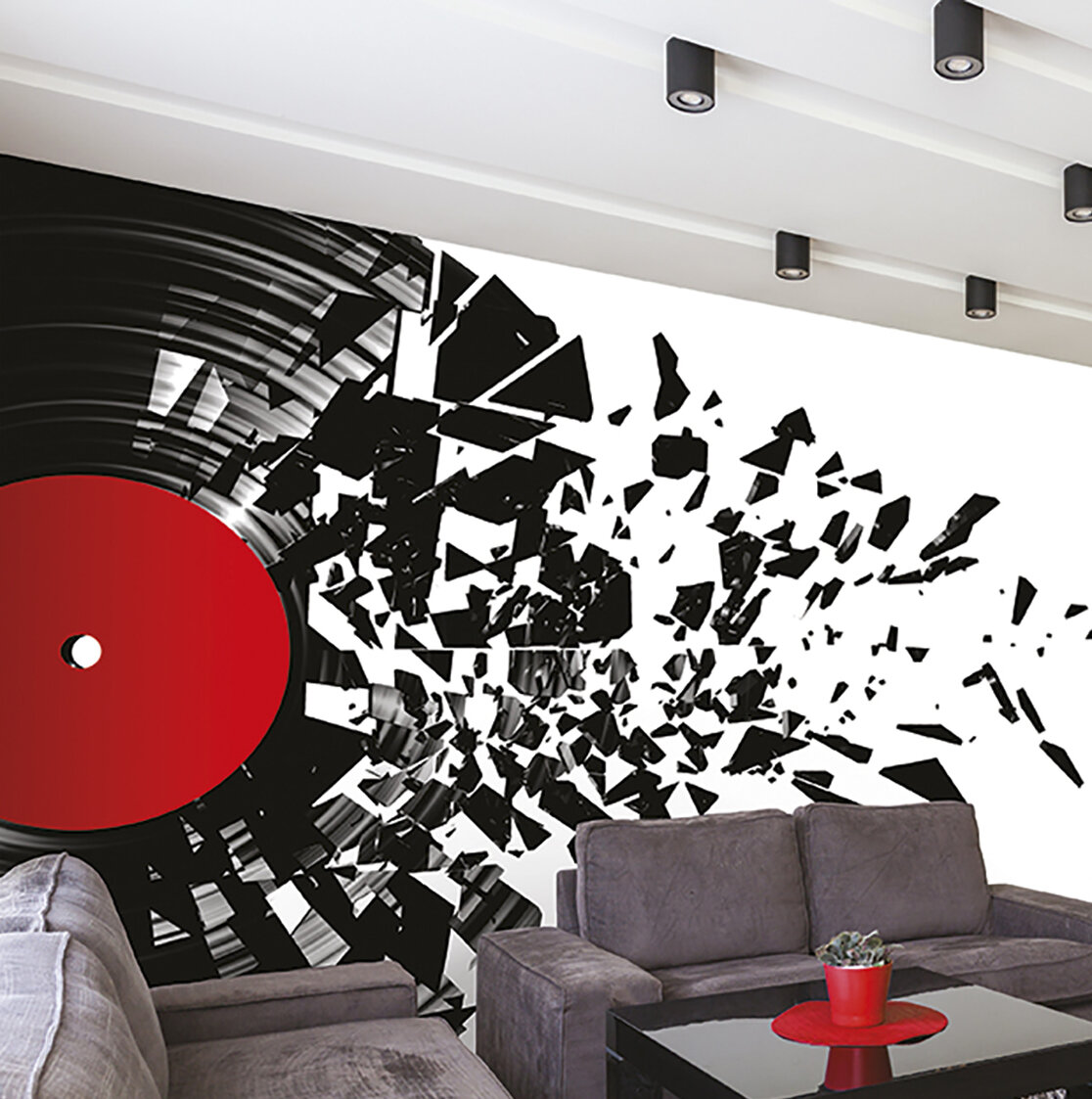 East Urban Home Smashed Vinyl 9 8 L X 94 W 6 Panel Wall Mural