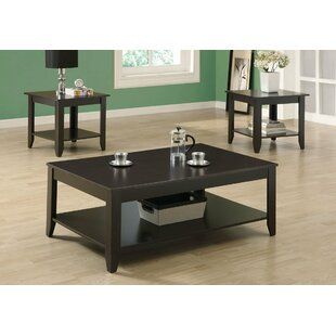 Naber 3 Piece Coffee Table Set