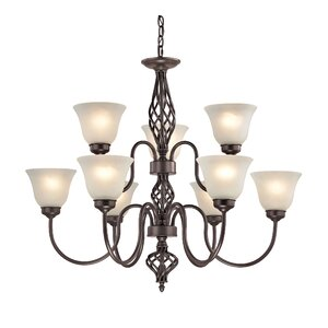 Battersby 9-Light Shaded Chandelier