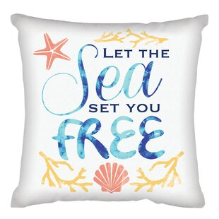 Katia Let the Sea Set You Free Throw Pillow