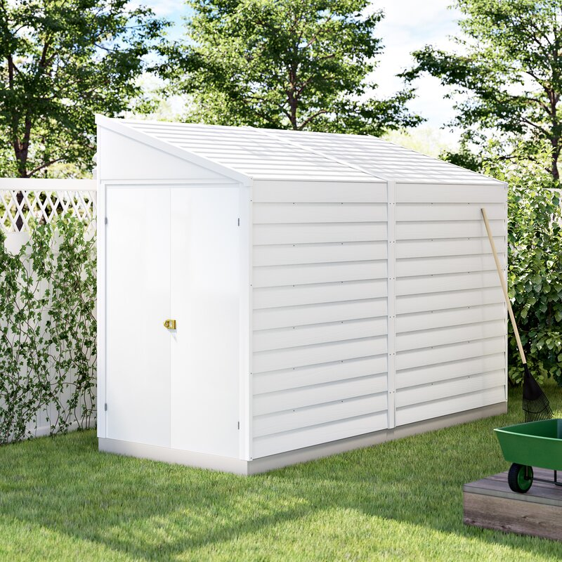X 10 Ft D Metal Lean To Storage Shed