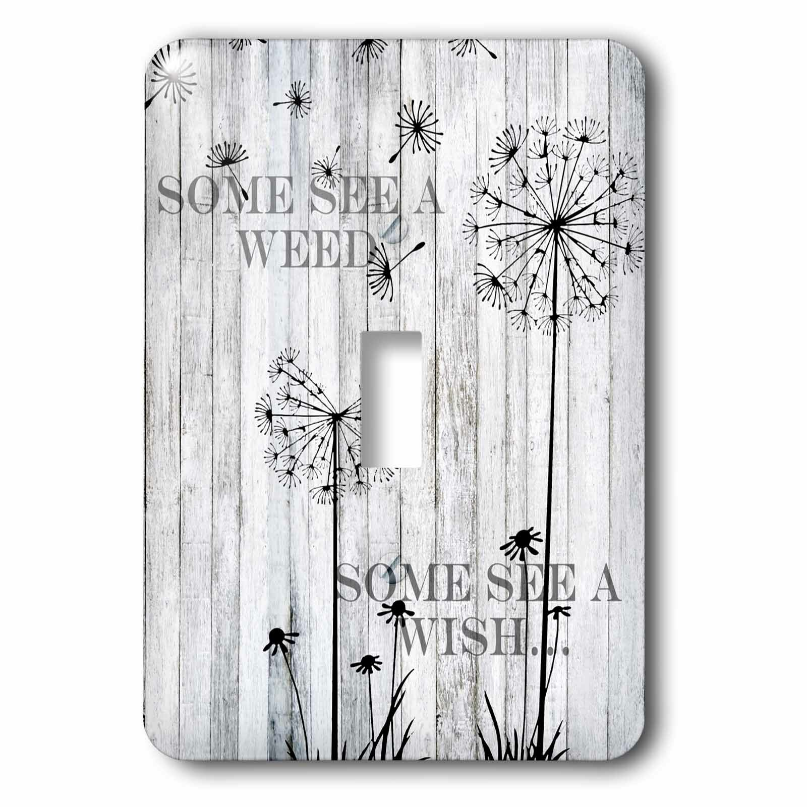 3drose Quotes Saying Dandelion 1 Gang Toggle Light Switch Wall Plate Wayfair