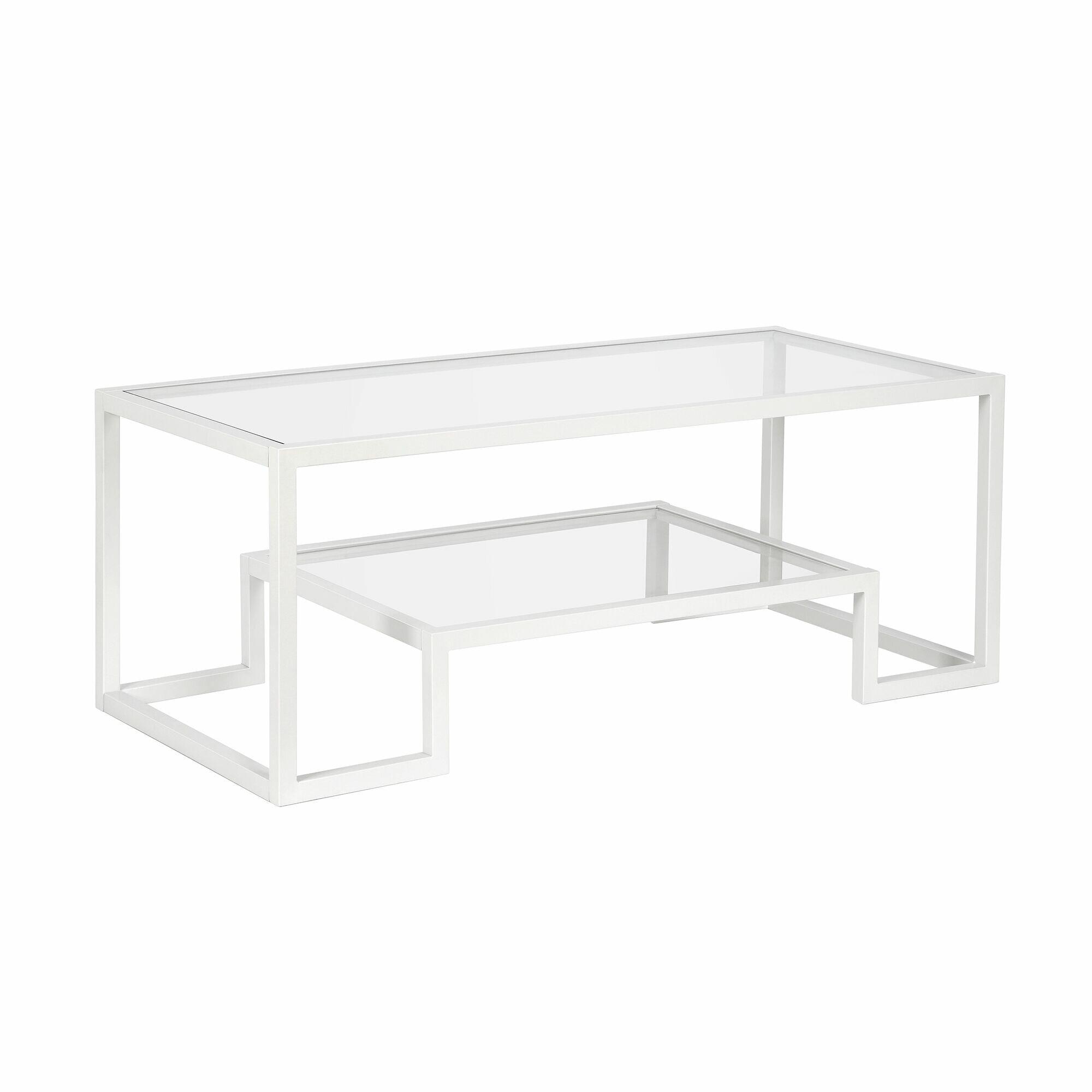 Mercer41 Imel Frame Coffee Table With Storage Reviews Wayfair