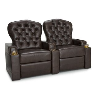 Leather Home Theater Row Seating (Row of 2) ByRed Barrel Studio