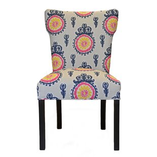 Calandra Cotton Wingback Cotton Side Chair (Set of 2) Sole Designs