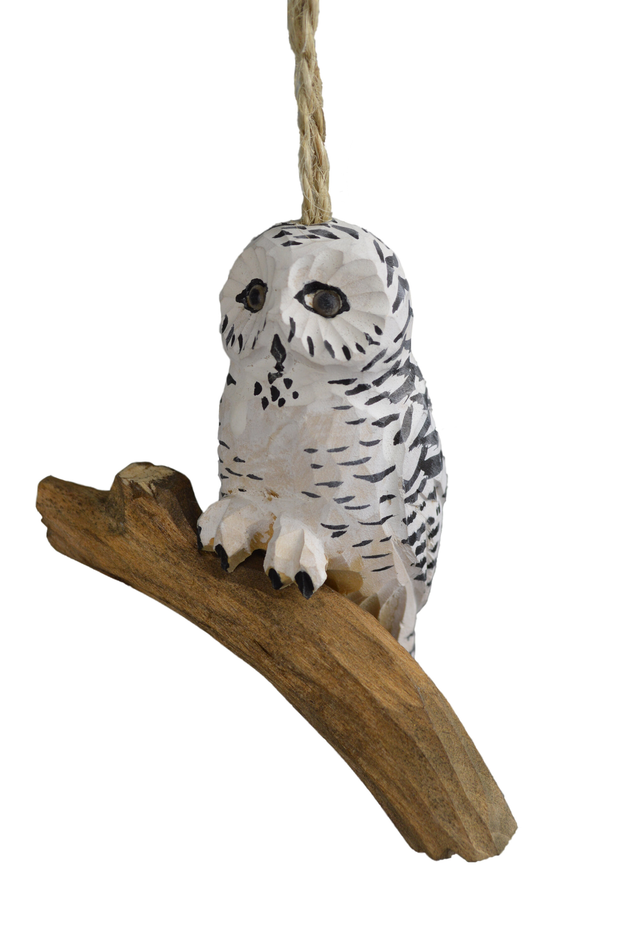The Holiday Aisle Handcrafted Wood Snowy Owl Hanging Figurine Ornament Reviews Wayfair