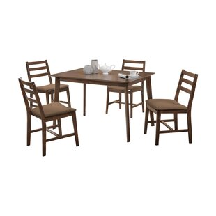 Pascual 5 Piece Dining Set Loon Peak
