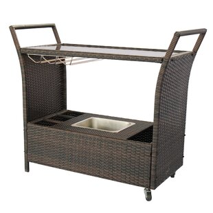 Stewood Patio Bar Serving Cart