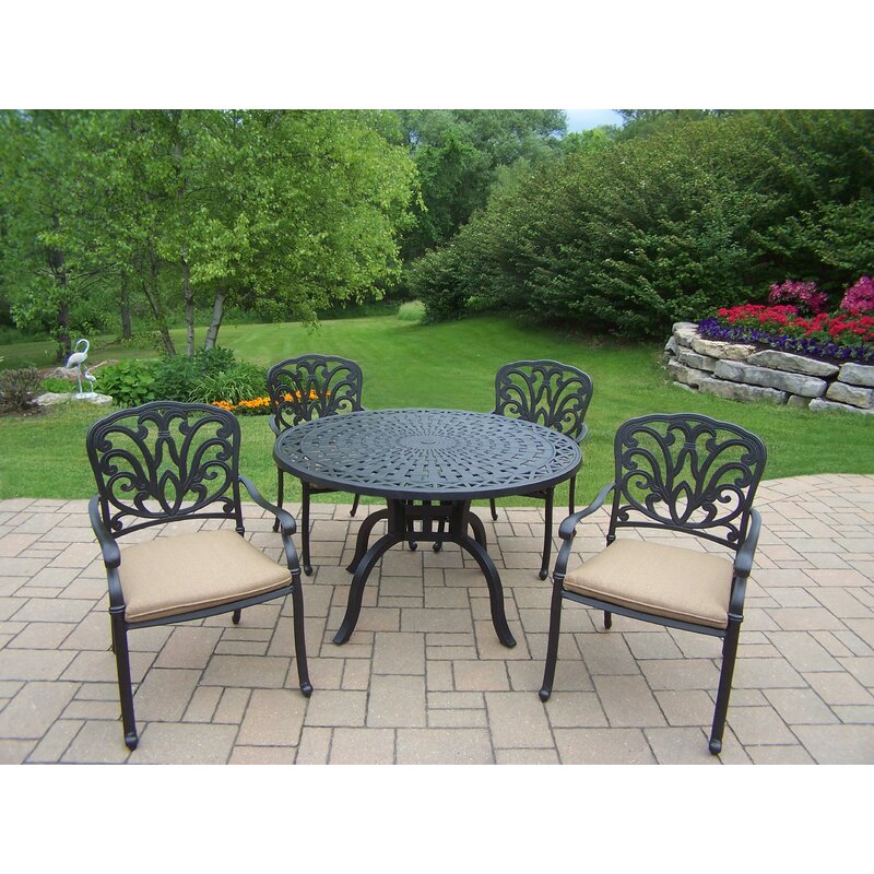 Darby Home Co Bosch 5 Piece Dining Set With Cushions Reviews Wayfair