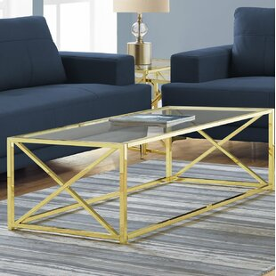 Breakwater Bay Geise Tempered Glass Coffee Table