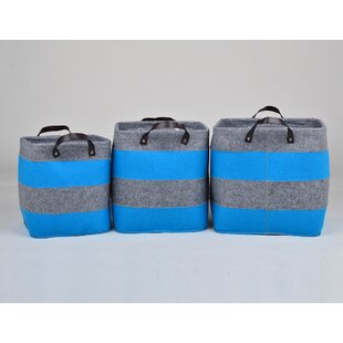Organized Felt 3 Piece Cube or Bin By Rebrilliant